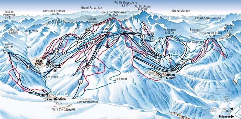 Vars Ski Resort France Ski Line