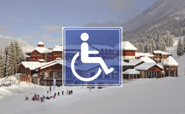 Wheelchair access in hotels and chalets in ski resorts across the Alps