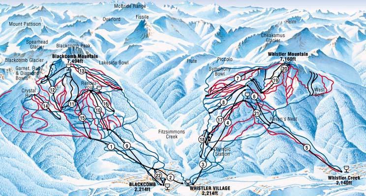 Whistler Ski Resort Canada Ski Line