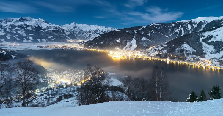 Zell am See and Saalbach is the biggest linked ski area in Austrian