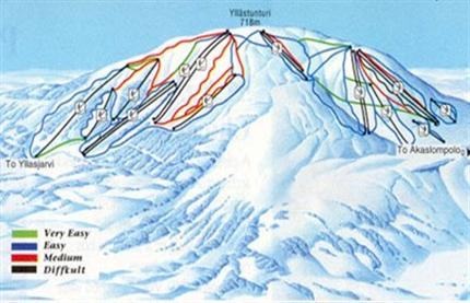 Yllas Ski Resort Piste Map