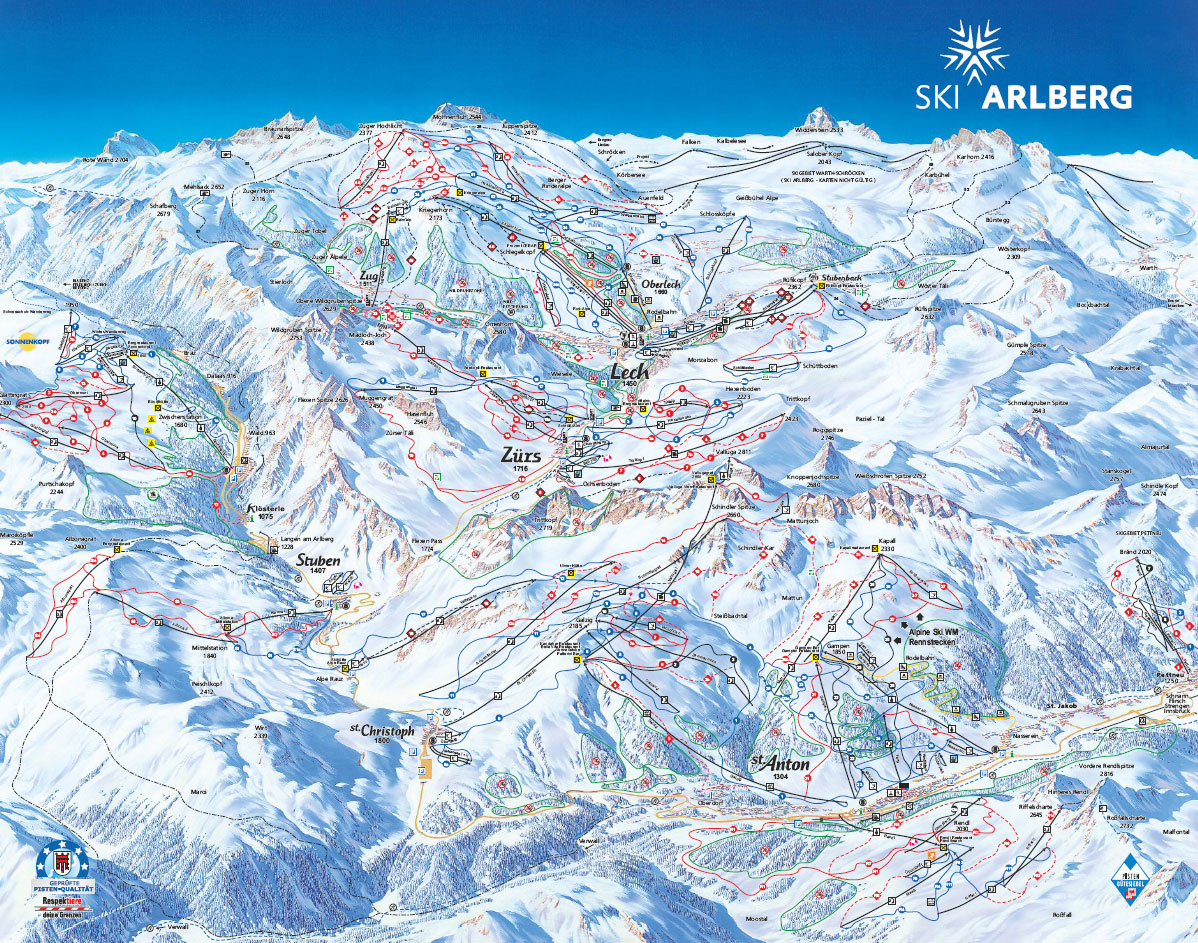 Lech Ski Resort Piste Map