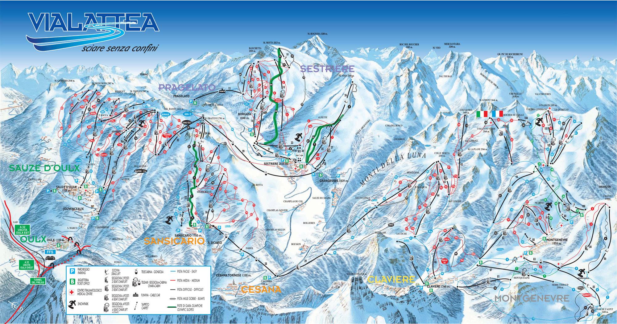Pragelato Ski Resort Italy Ski Line