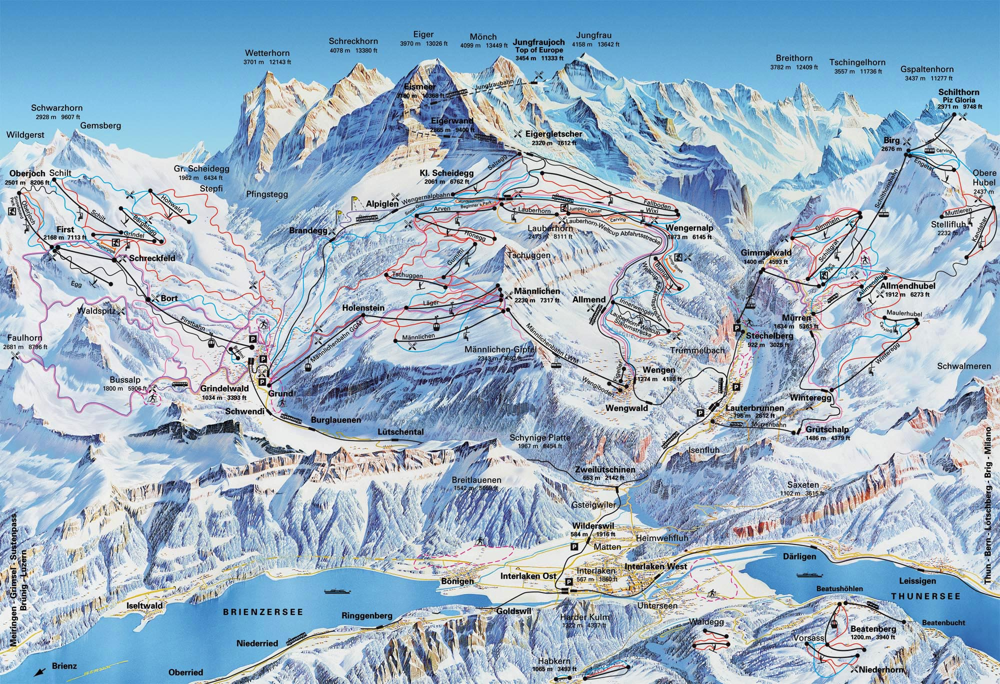 Grindelwald Ski Resort Piste Map