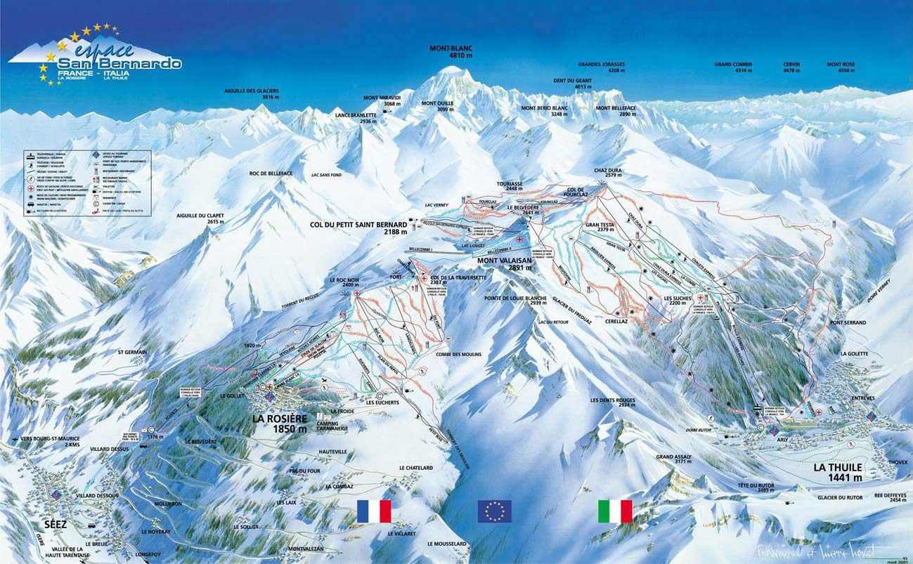 La Thuile Ski Resort Italy Ski Line