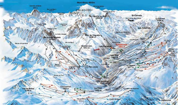 Chamonix Ski Resort Piste Map