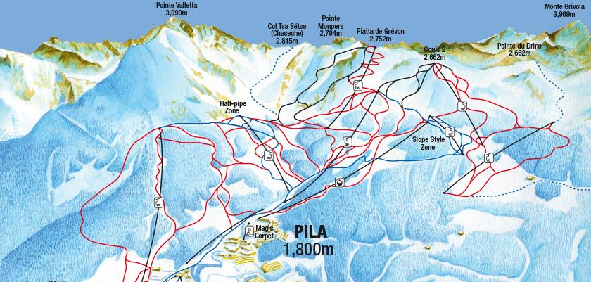 Pila Ski Resort Italy Ski Line