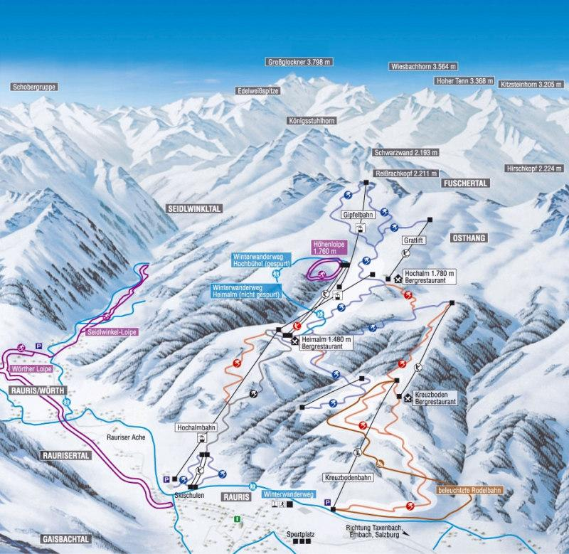 Rauris Ski Resort Piste Map