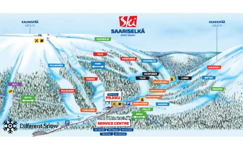 Saariselka Ski Resort Finland Ski Line