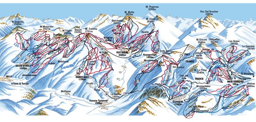 Sauze D Oulx Piste Map Sauze d'Oulx Ski Resort | Sauze d'Oulx Guide | Ski Line ®