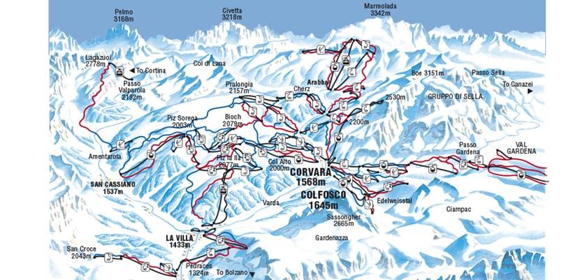 Corvara Ski Resort Italy Ski Line