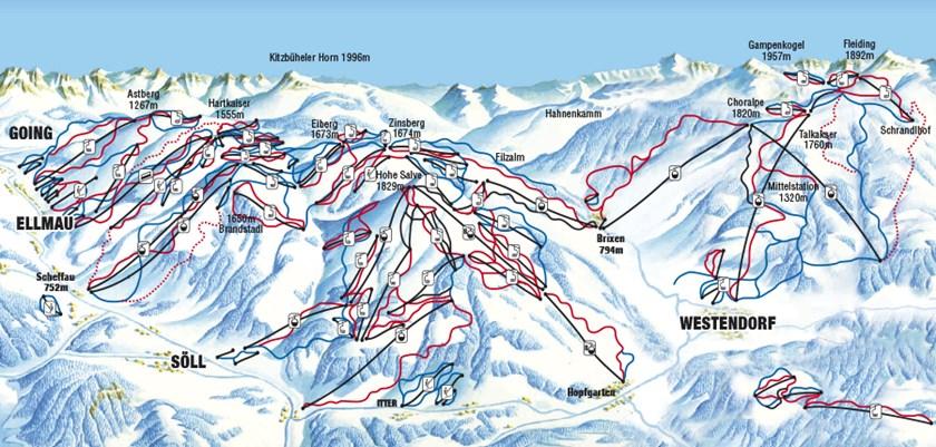 Westendorf Ski Resort Austria Ski Line