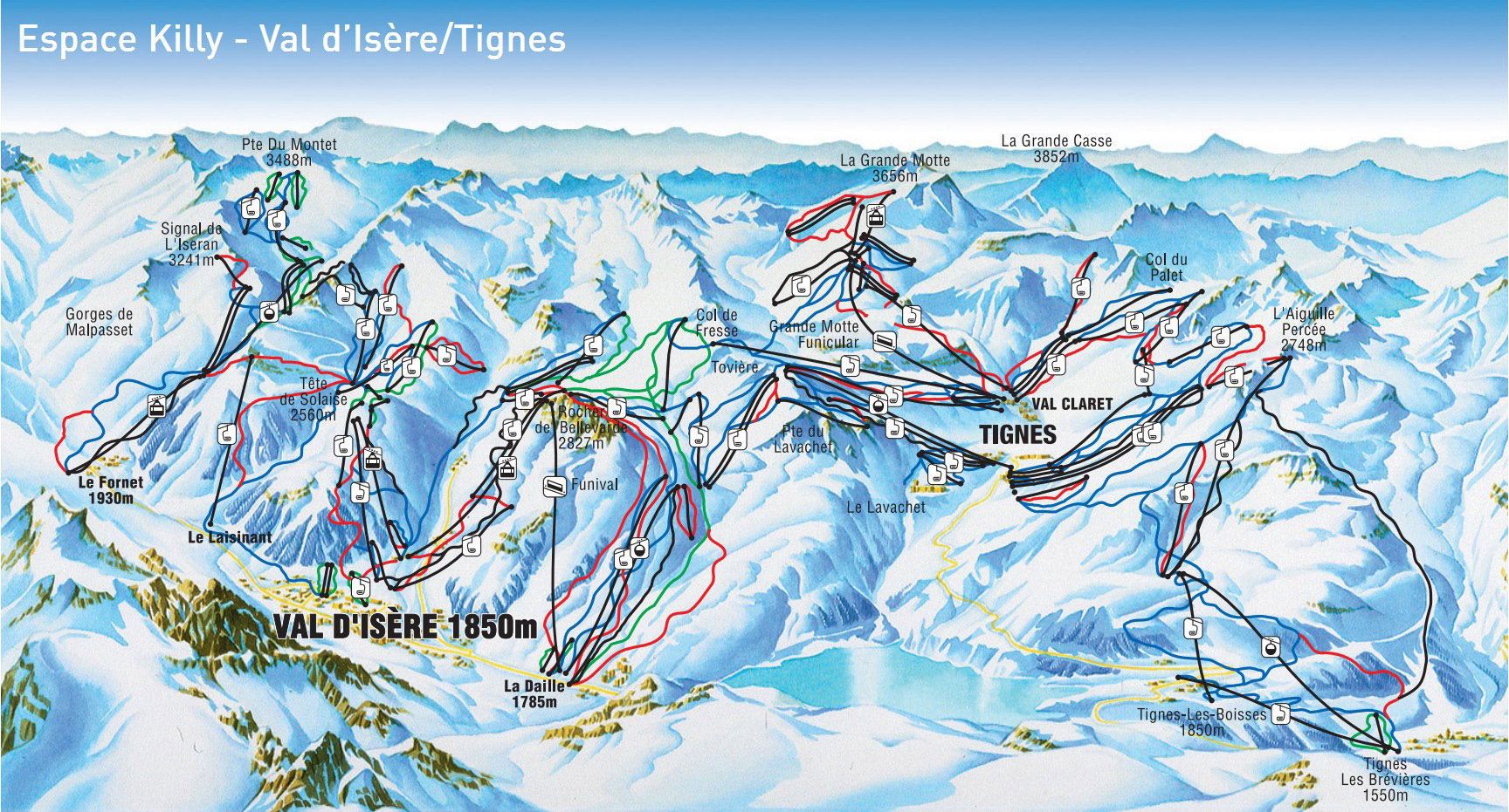 Val dIsere Ski Resort Piste Map