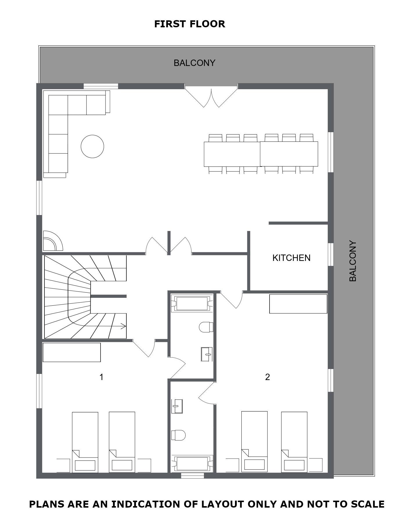Chalet Alysson Meribel Floor Plan 2