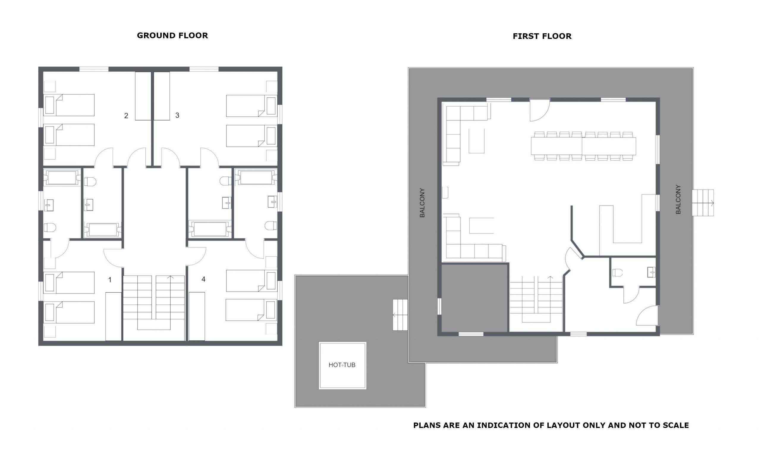Chalet Attila La Tania Floor Plan 1