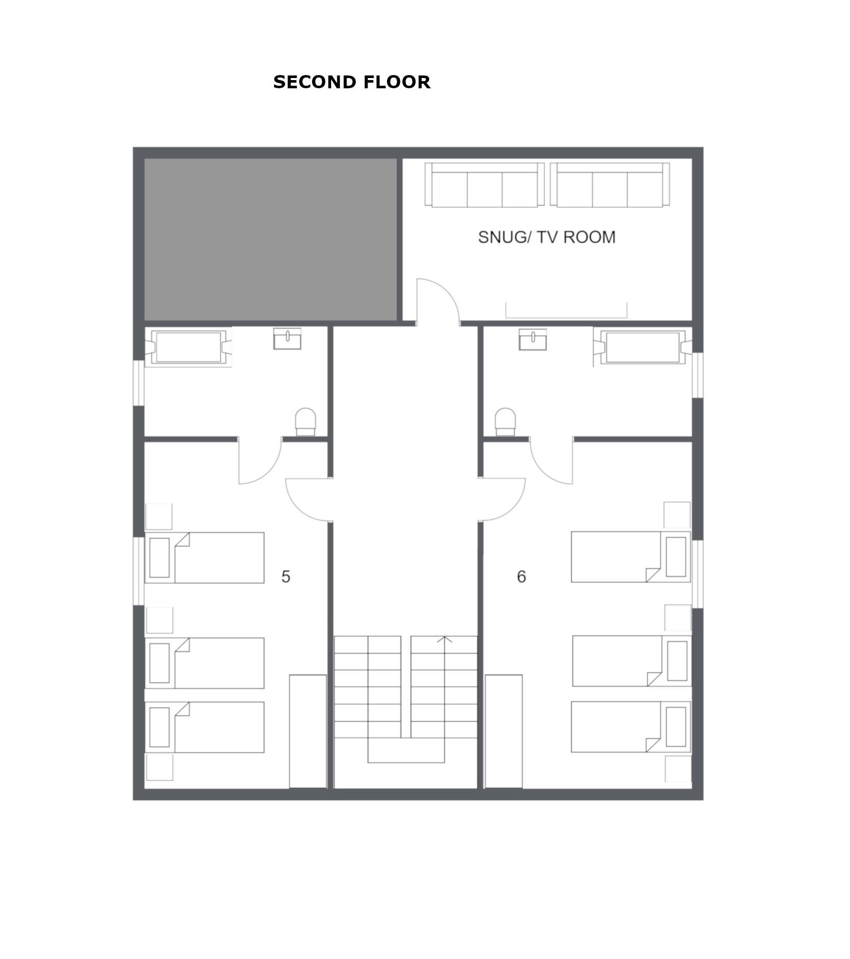 Chalet Attila La Tania Floor Plan 2