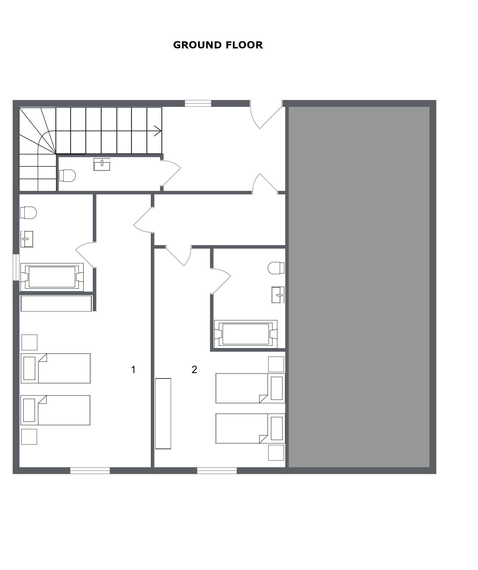 Chalet Azalee Meribel Floor Plan 1