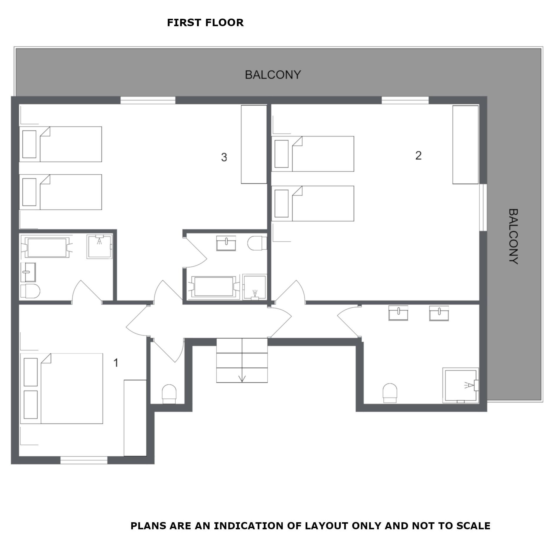 Chalet Bouchot Meribel Floor Plan 2