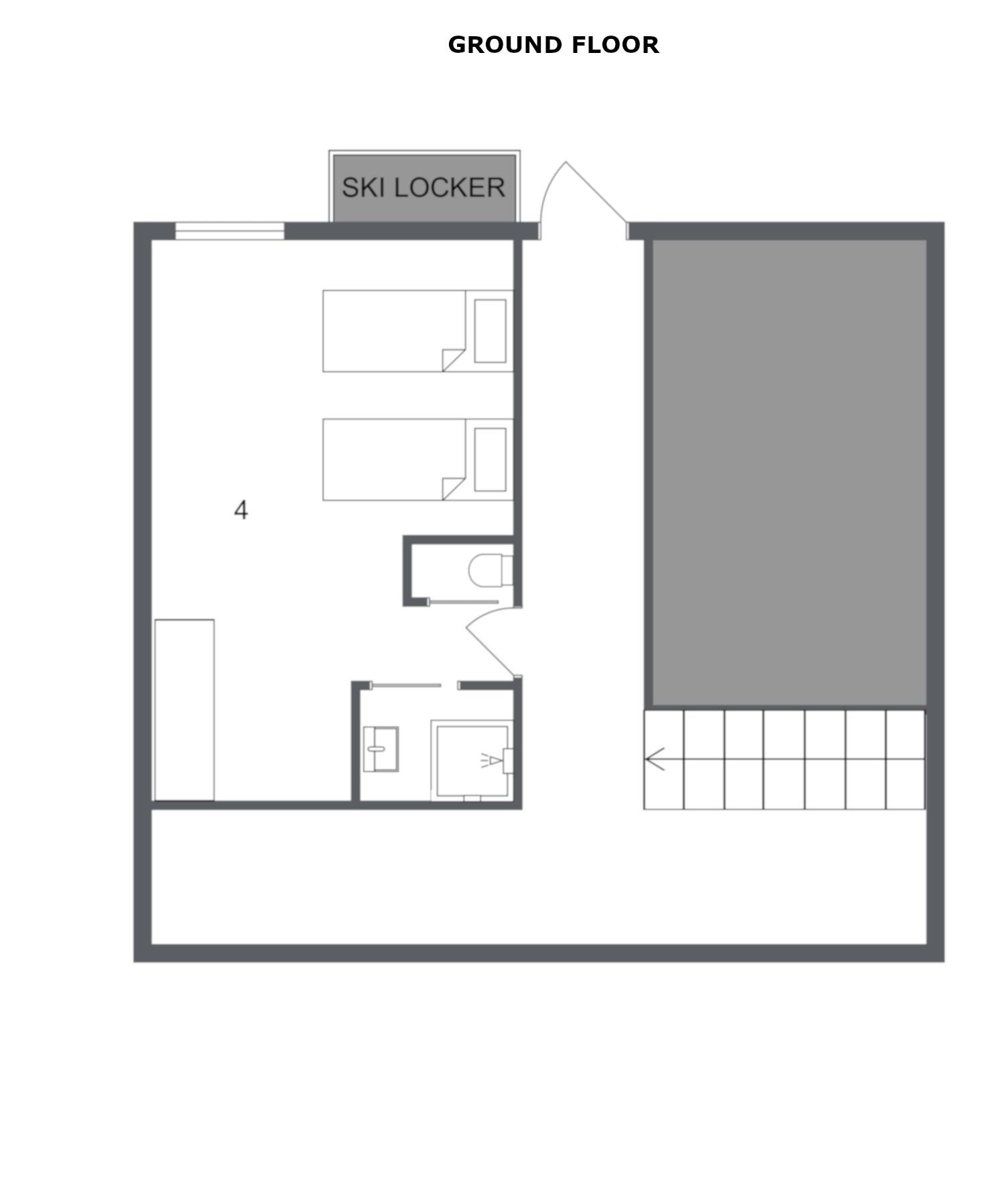Chalet Bouchot Meribel Floor Plan 1