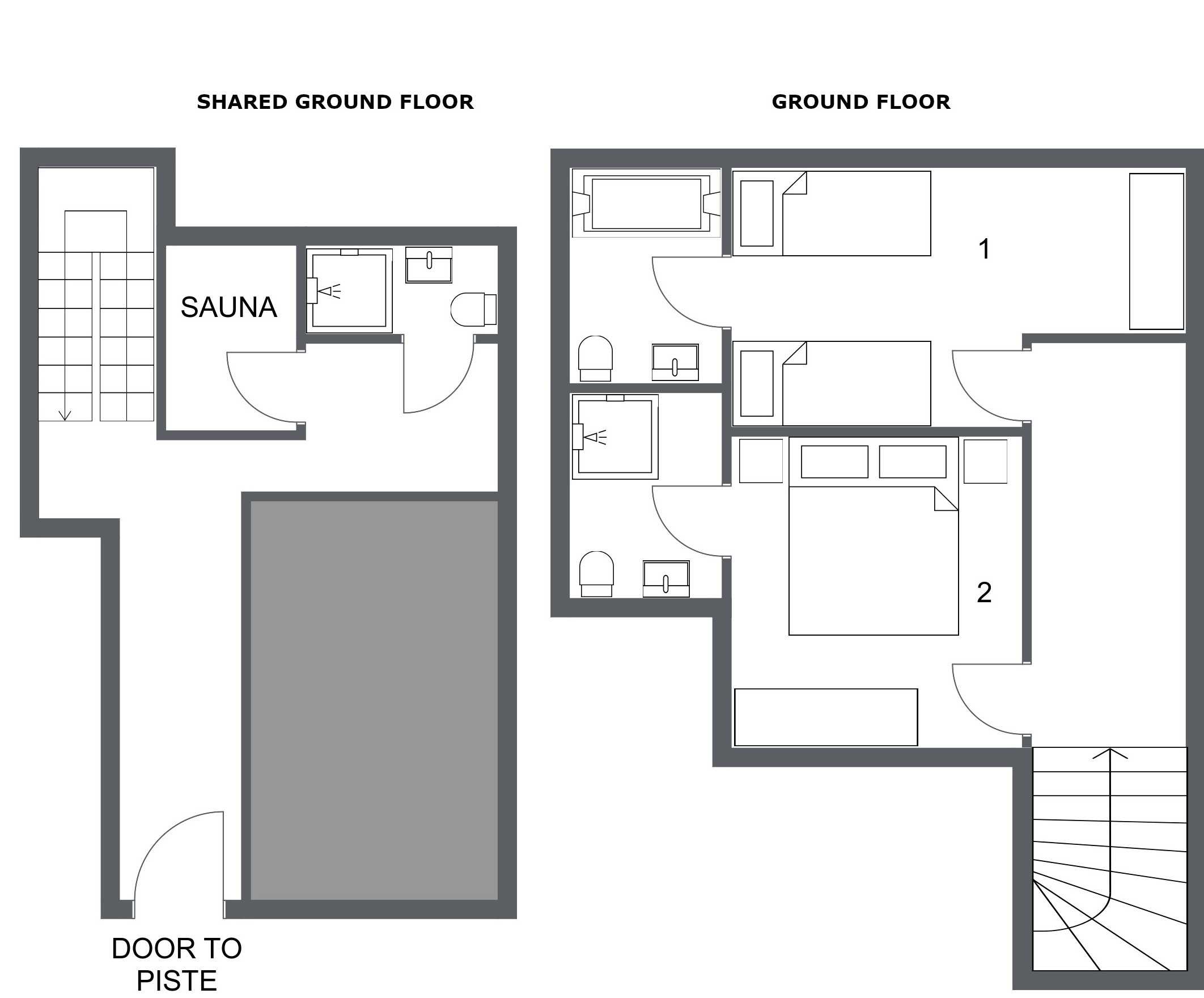 Chalet Toubkal One La Tania Floor Plan 1