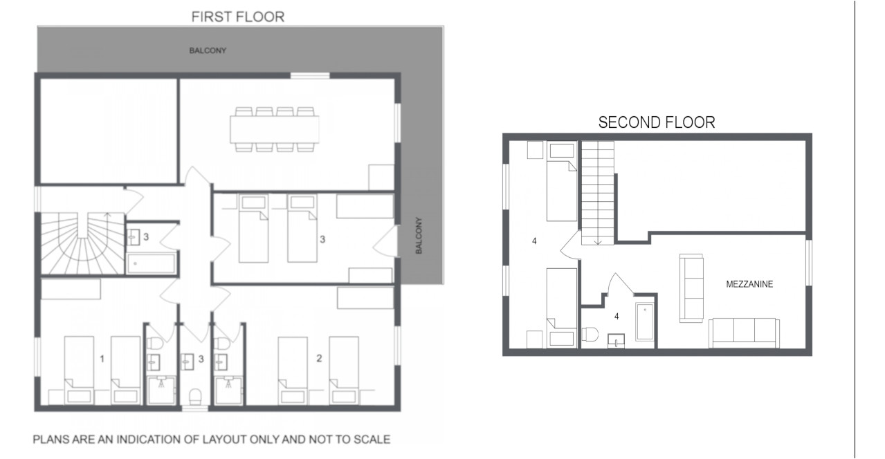 Chalet Rosalie Two Meribel Floor Plan 1