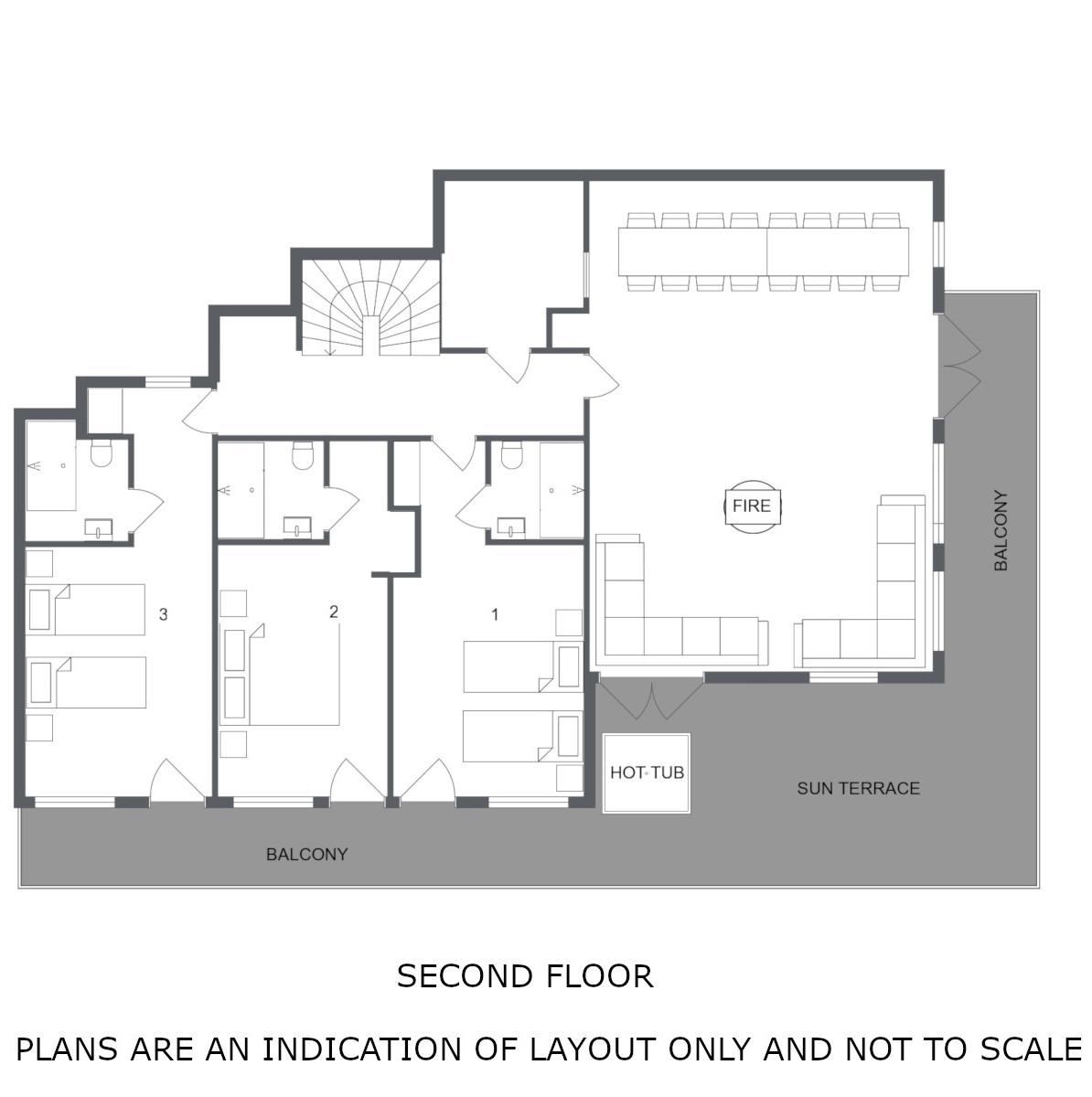 Chalet Virage Meribel Floor Plan 2