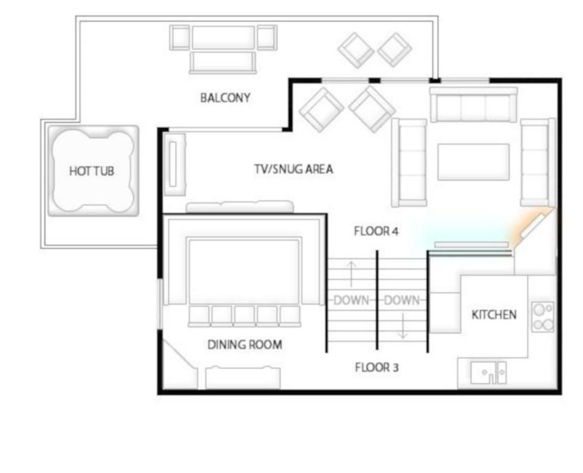 Chalet Patineur Tignes Floor Plan 3