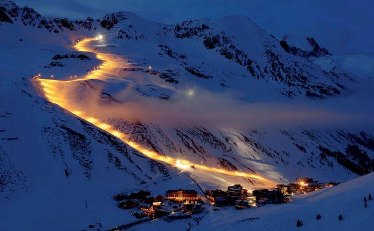 Kuhtai Ski Resort at Night