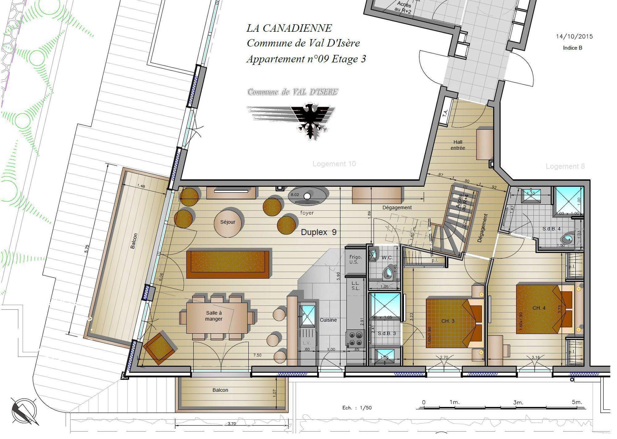 Chalet Caribou – La Canadienne Residence Val d'Isere Floor Plan 1