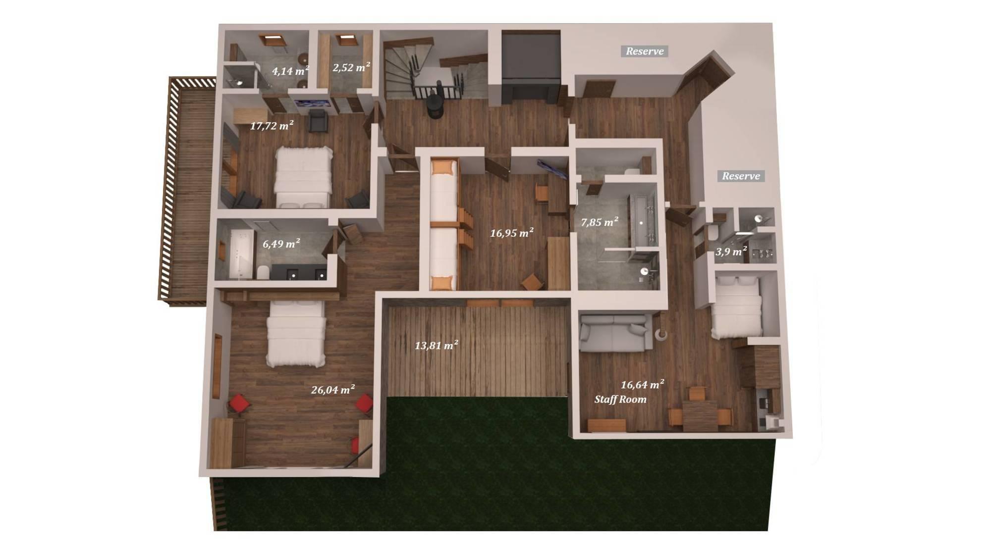 Chalet Queen Mijane Meribel Floor Plan 2