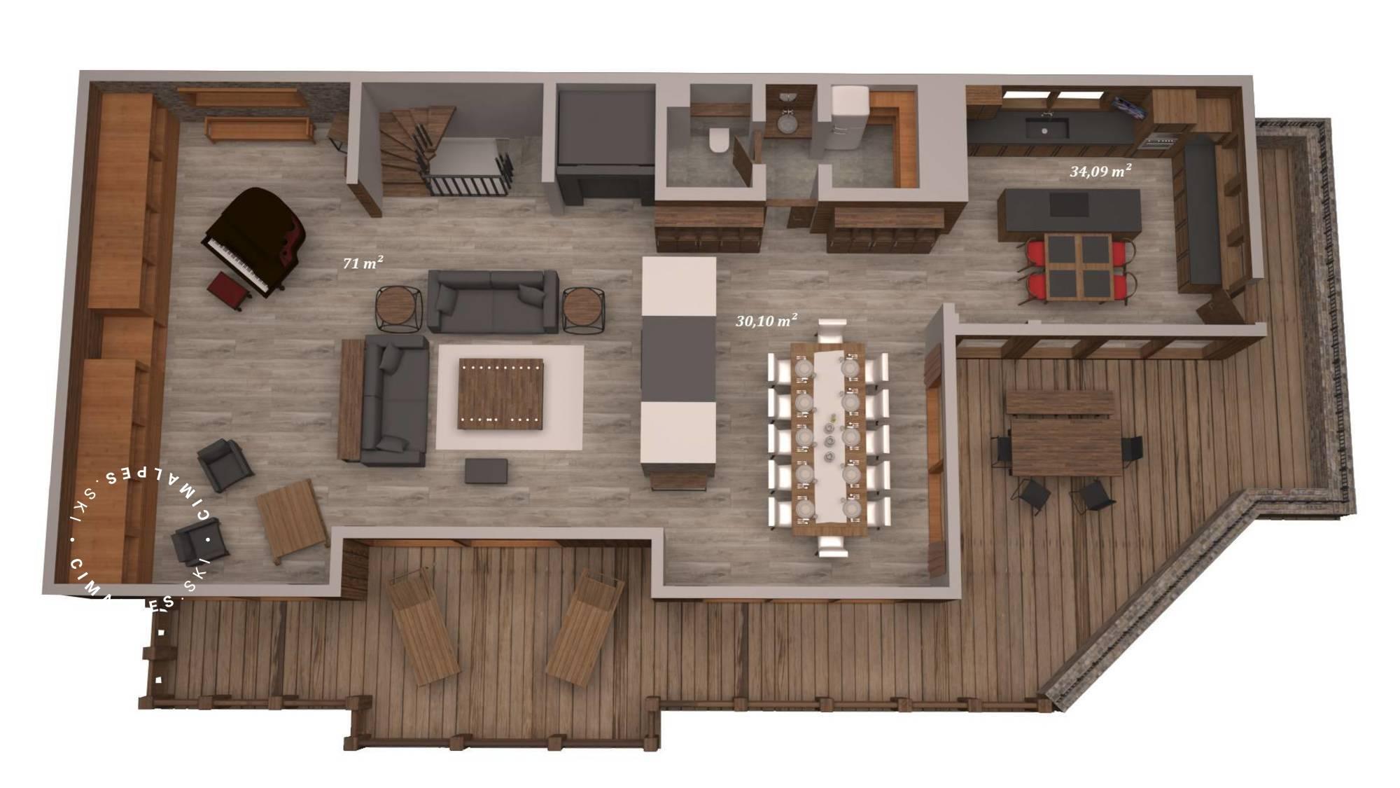 Chalet Queen Mijane Meribel Floor Plan 4