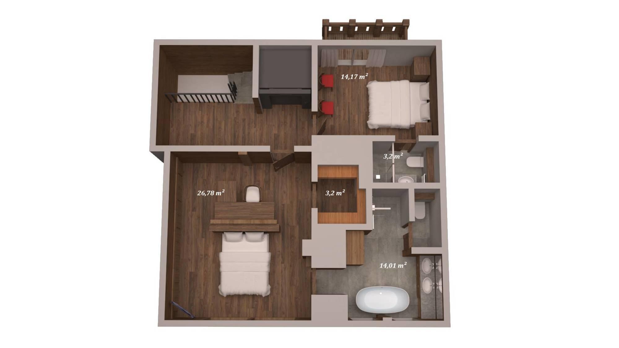 Chalet Queen Mijane Meribel Floor Plan 5