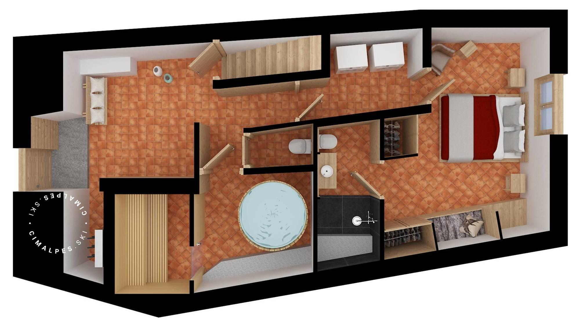 Chalet Dzintila Meribel Floor Plan 1