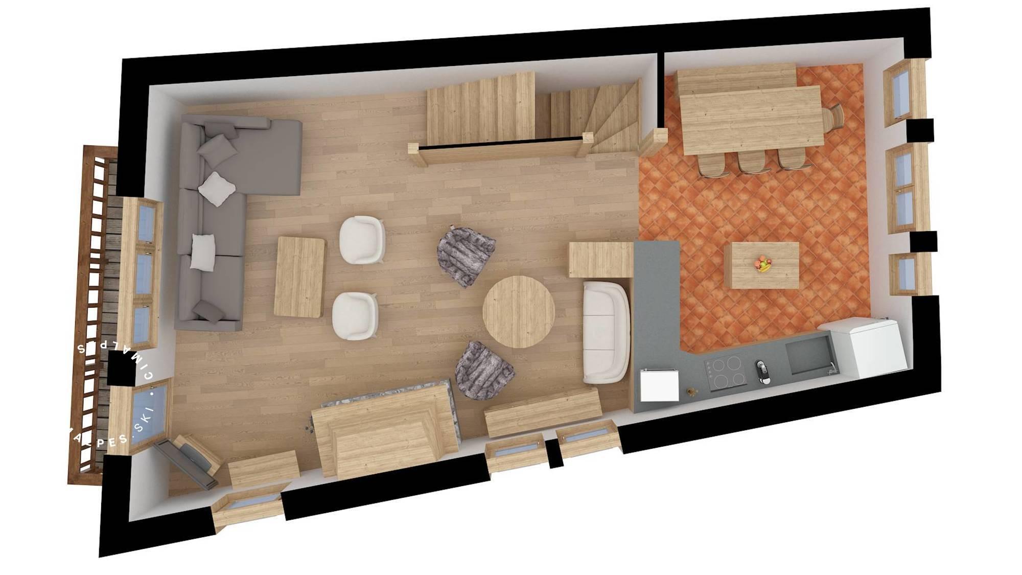 Chalet Dzintila Meribel Floor Plan 2