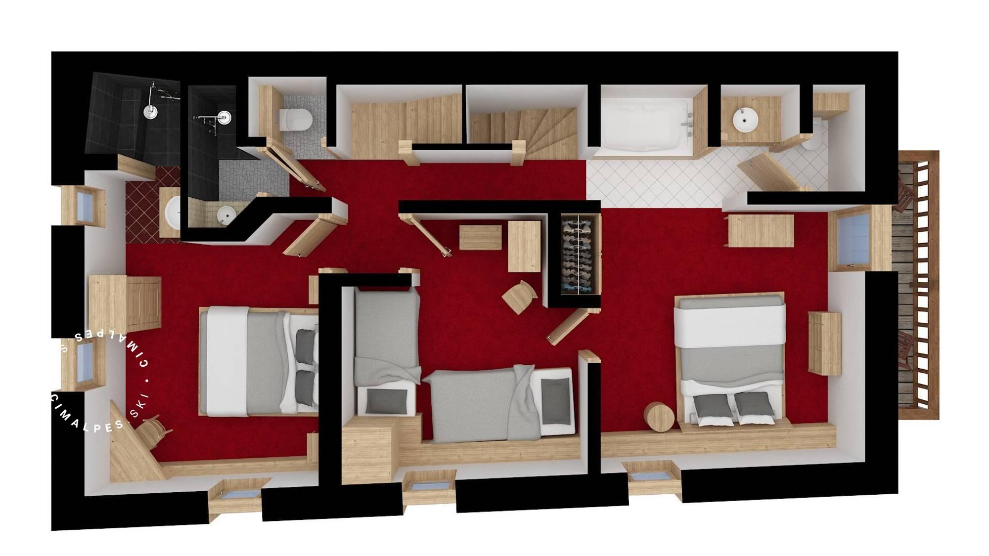 Chalet Dzintila Meribel Floor Plan 3