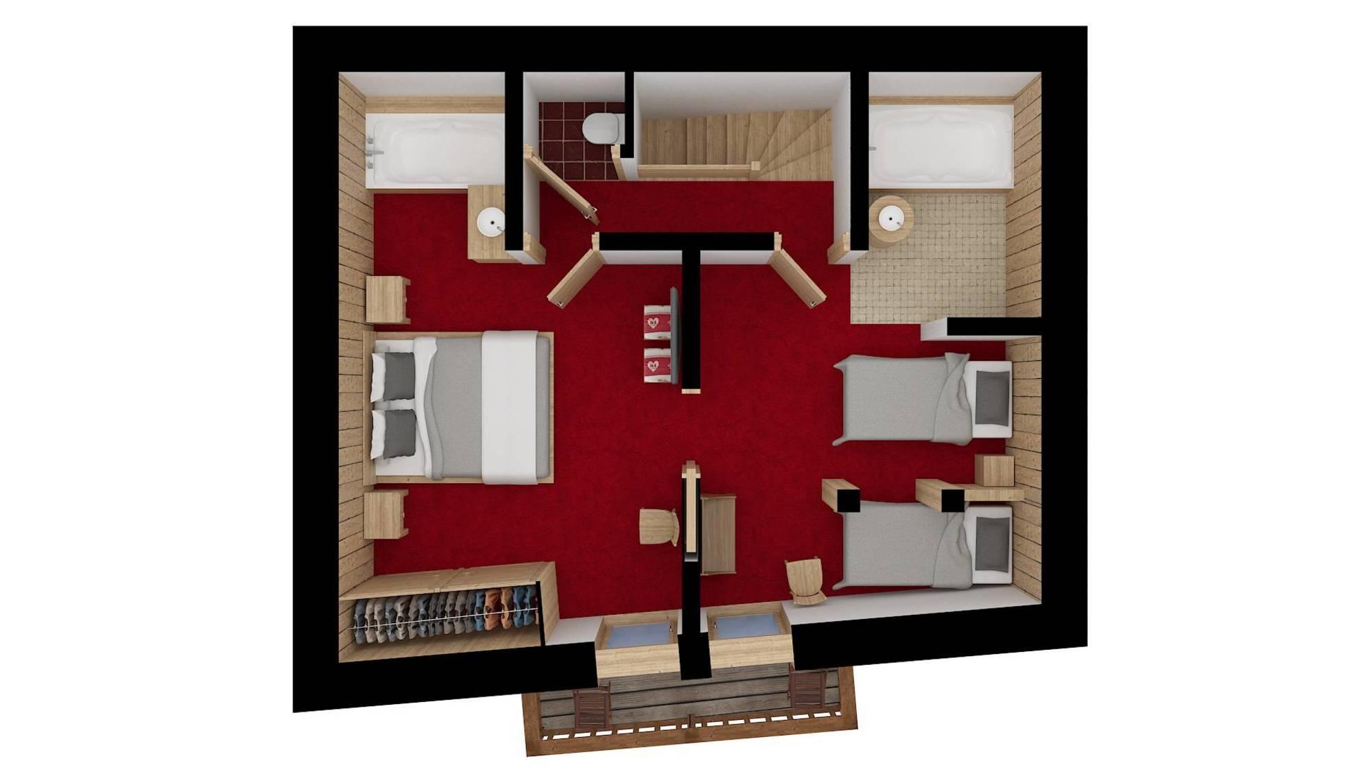 Chalet Dzintila Meribel Floor Plan 4