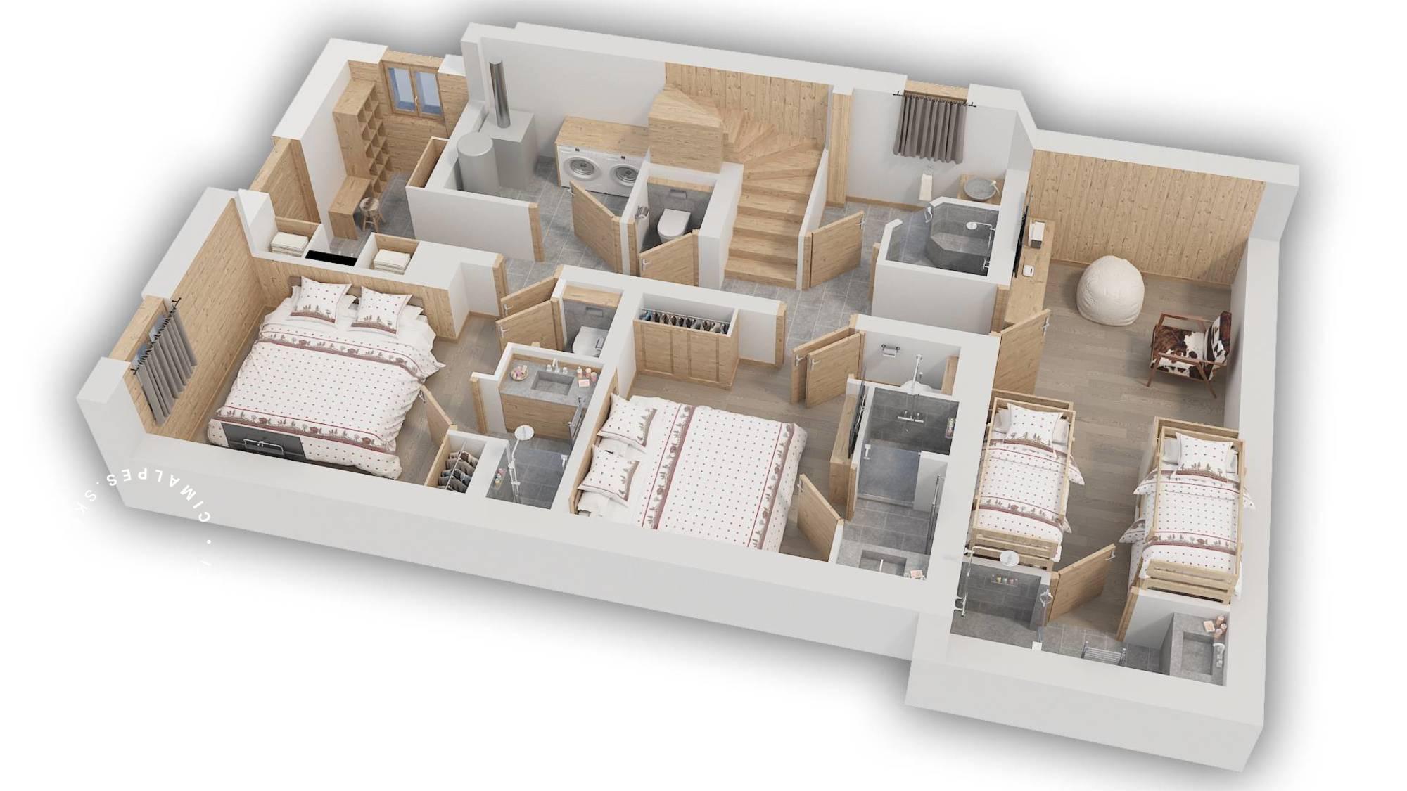 Chalet Hygge Meribel Floor Plan 1
