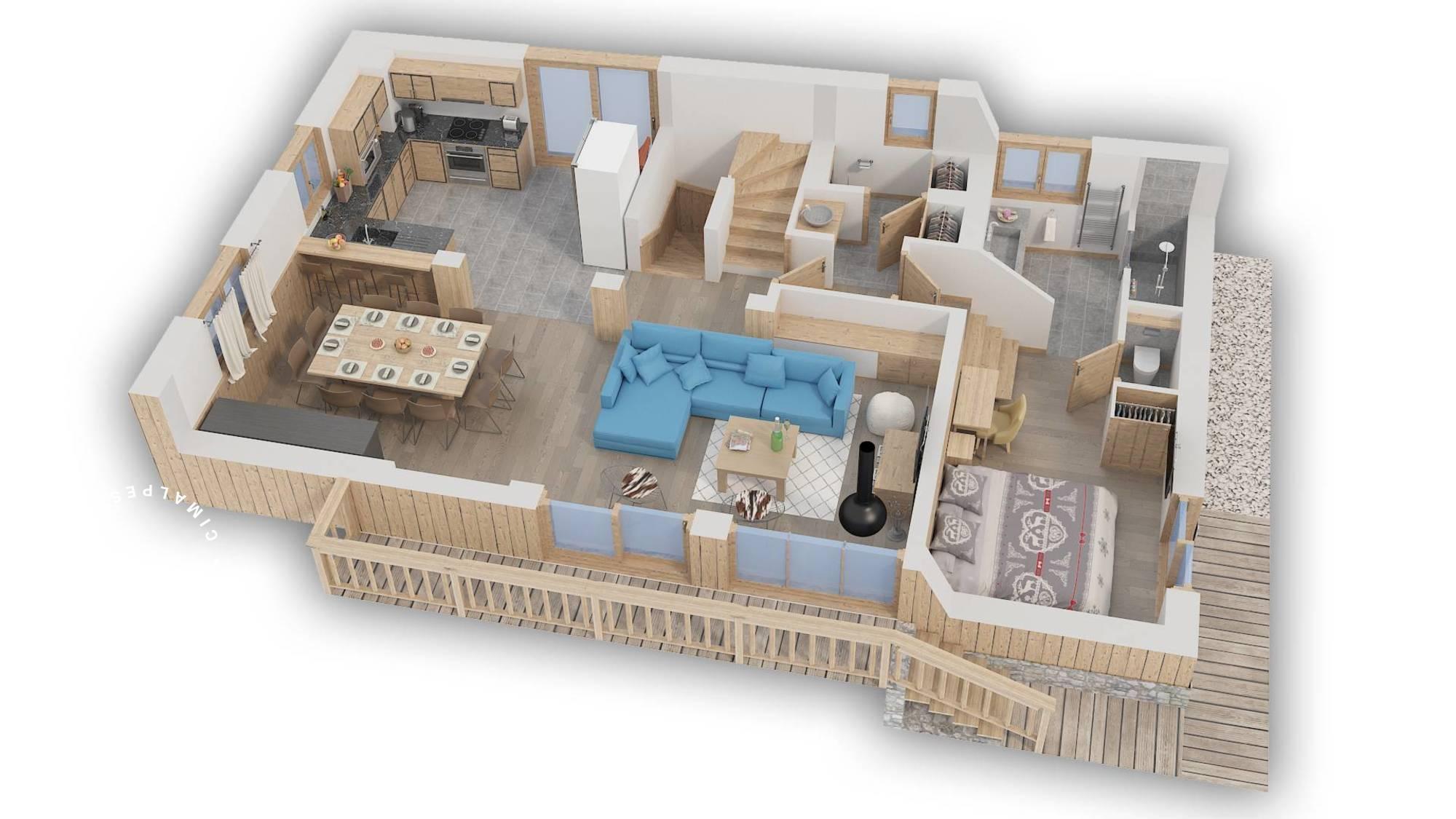 Chalet Hygge Meribel Floor Plan 2