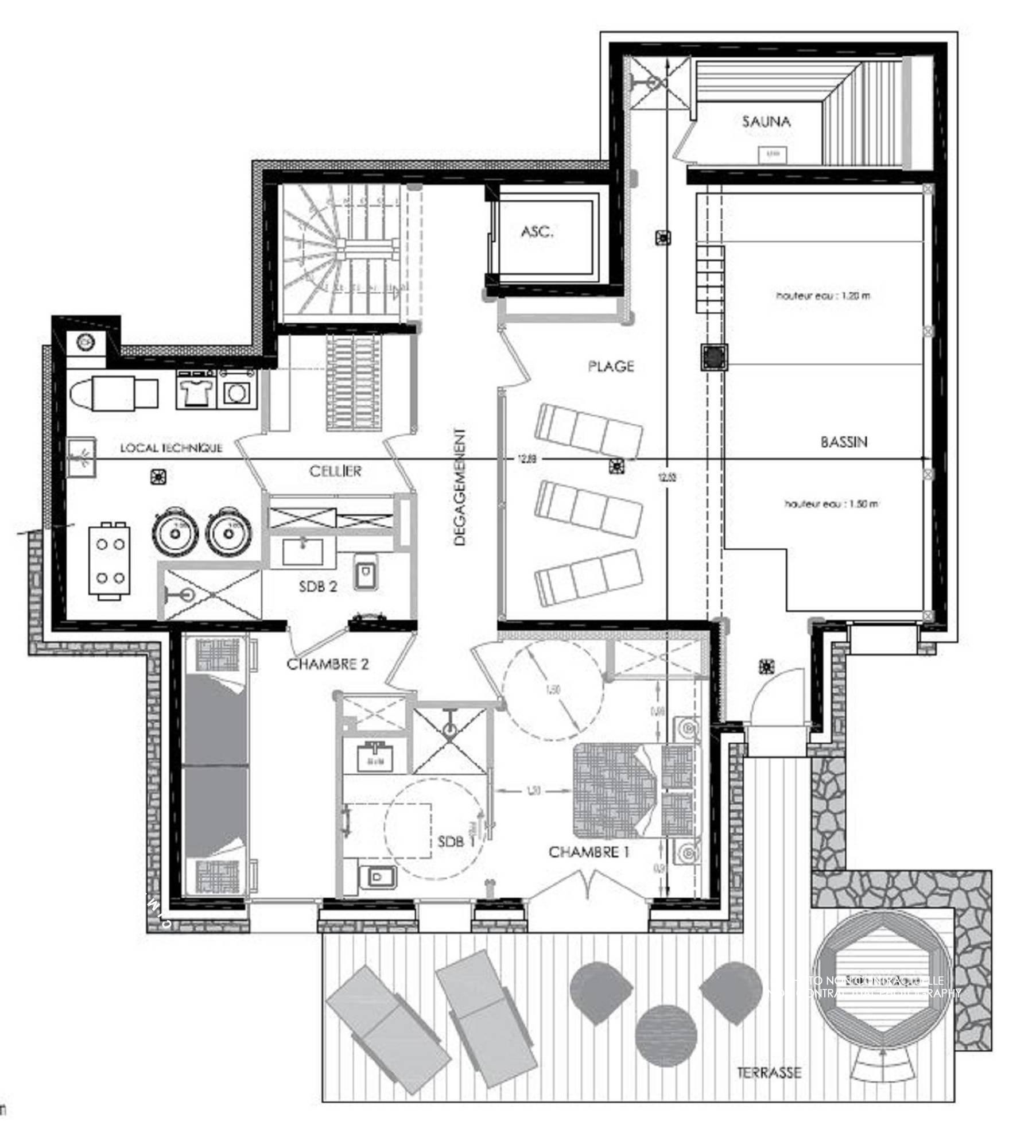 Chalet Pure Black Crystal St-Martin-de-Belleville Floor Plan 1