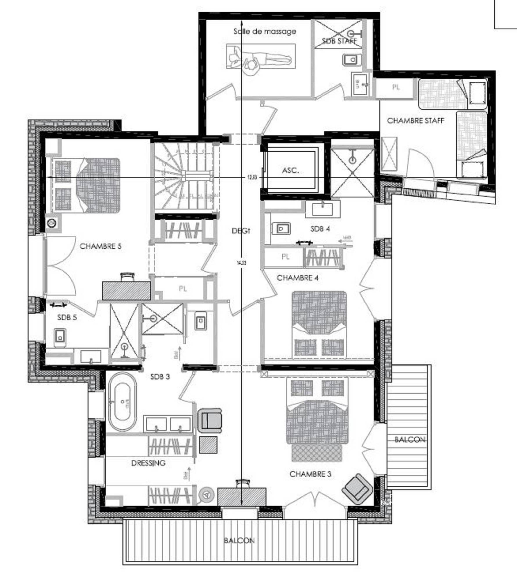 Chalet Pure Black Crystal St-Martin-de-Belleville Floor Plan 2