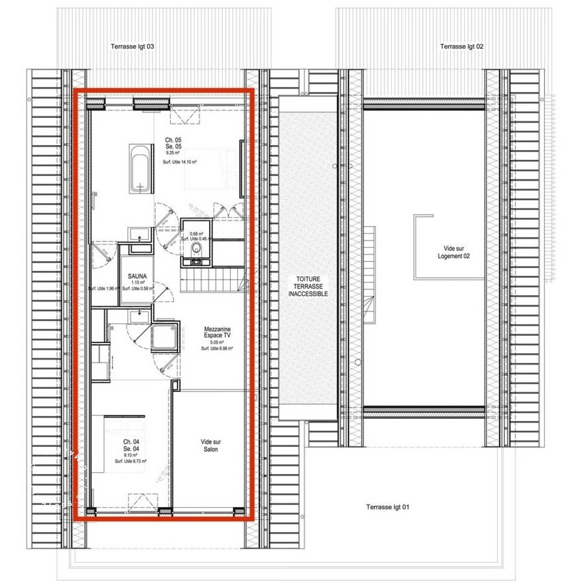 Apartment Home 5 St-Martin-de-Belleville Floor Plan 3