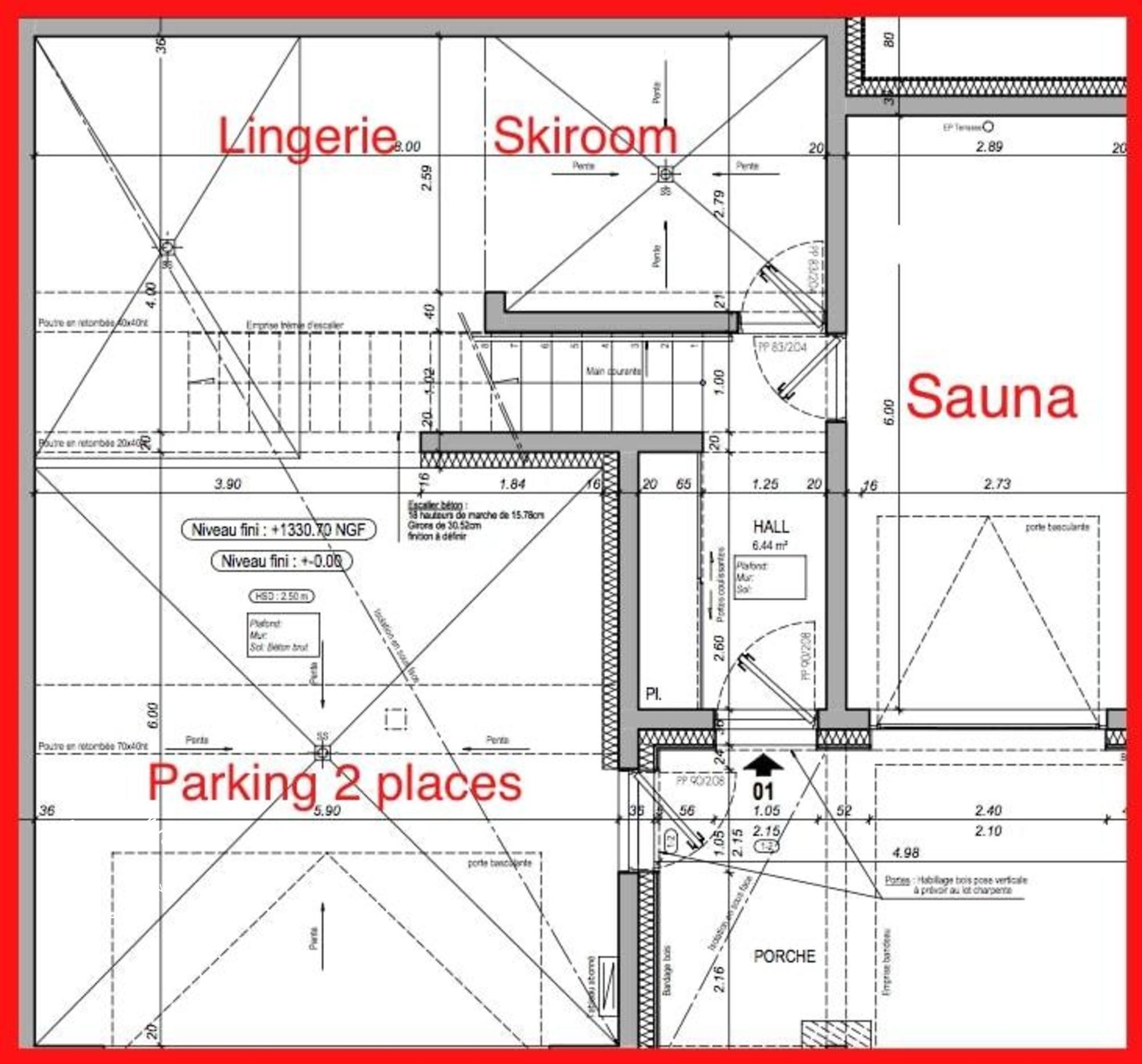 Chalet Home 1 St-Martin-de-Belleville Floor Plan 1