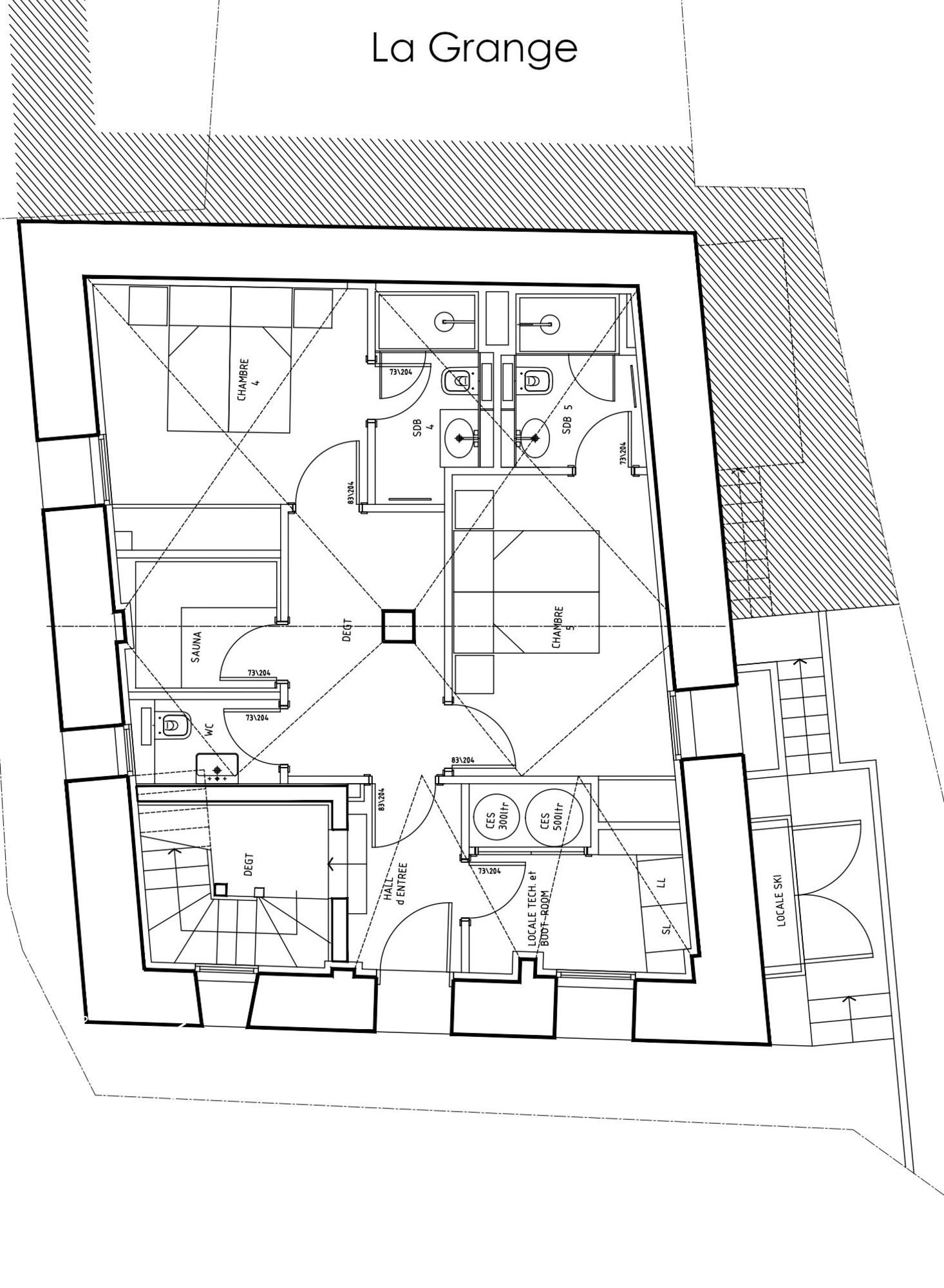 Chalet La Grange 1855 St-Martin-de-Belleville Floor Plan 1