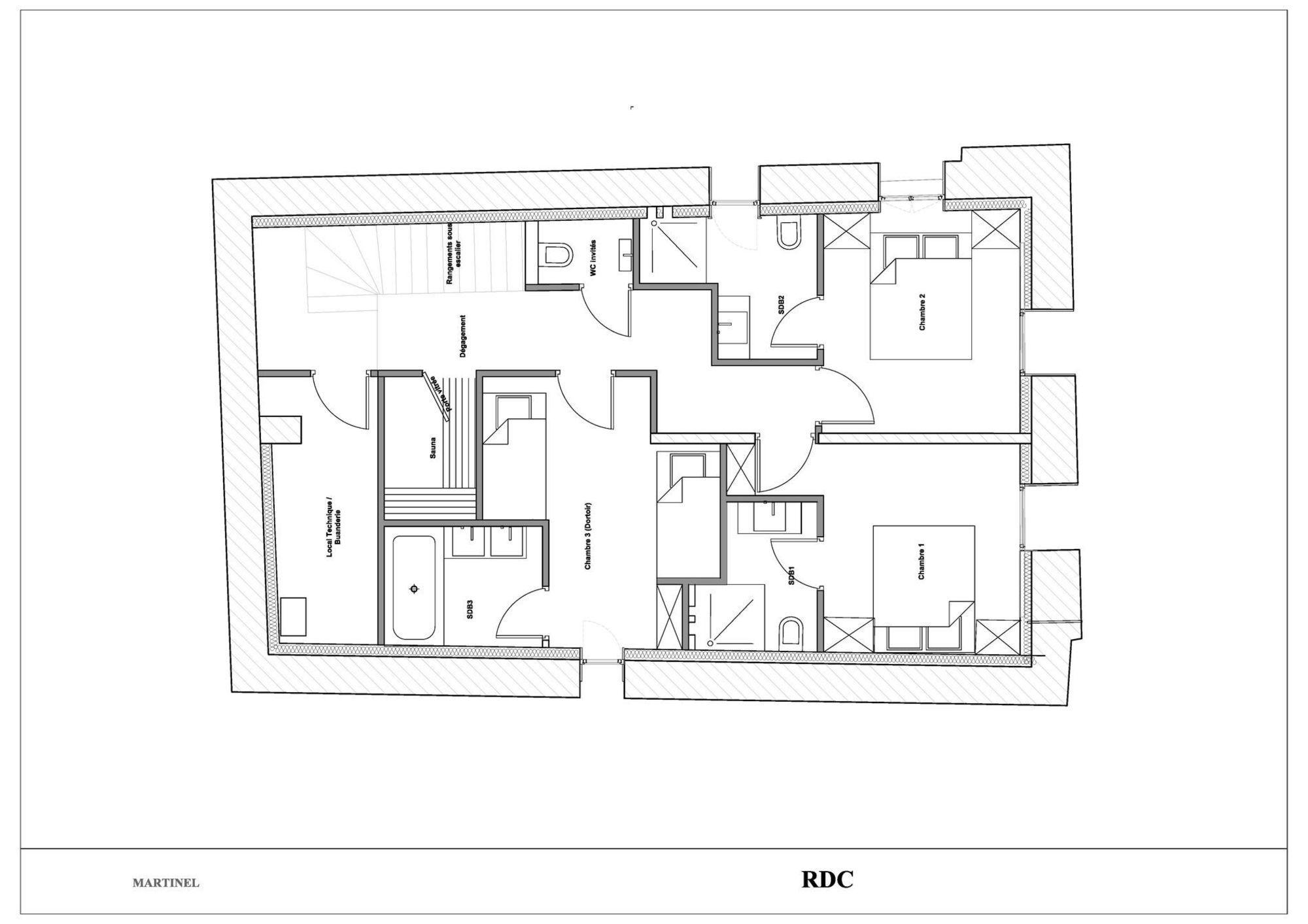 Chalet La Grange Martinel St-Martin-de-Belleville Floor Plan 1