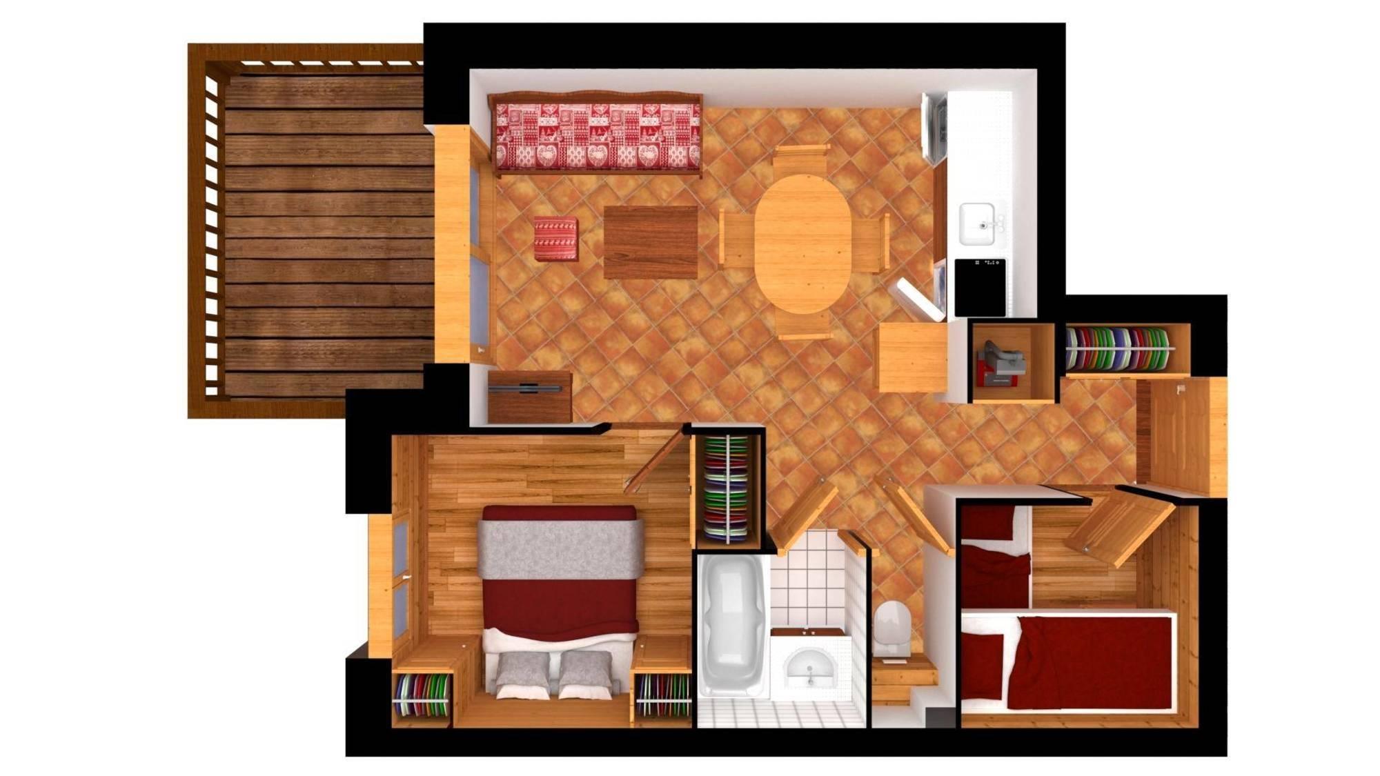 Apartment Ferme Fretes 11 Meribel Floor Plan 1
