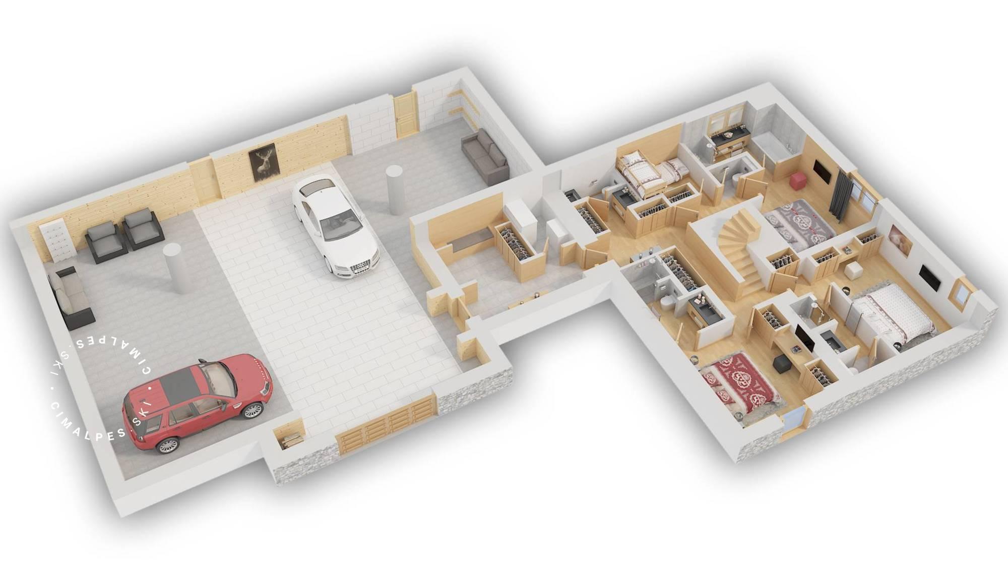 Chalet B Megeve Floor Plan 1