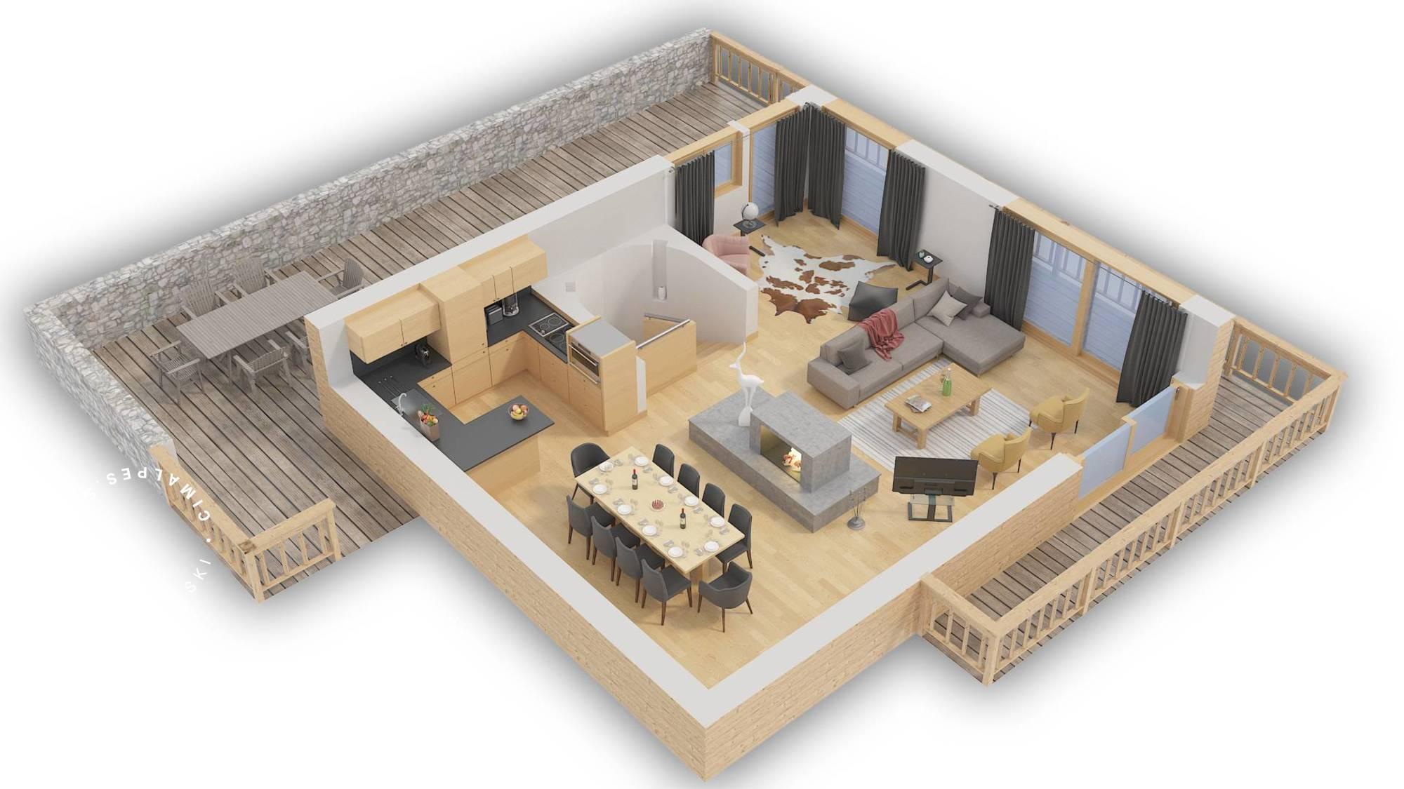 Chalet B Megeve Floor Plan 2