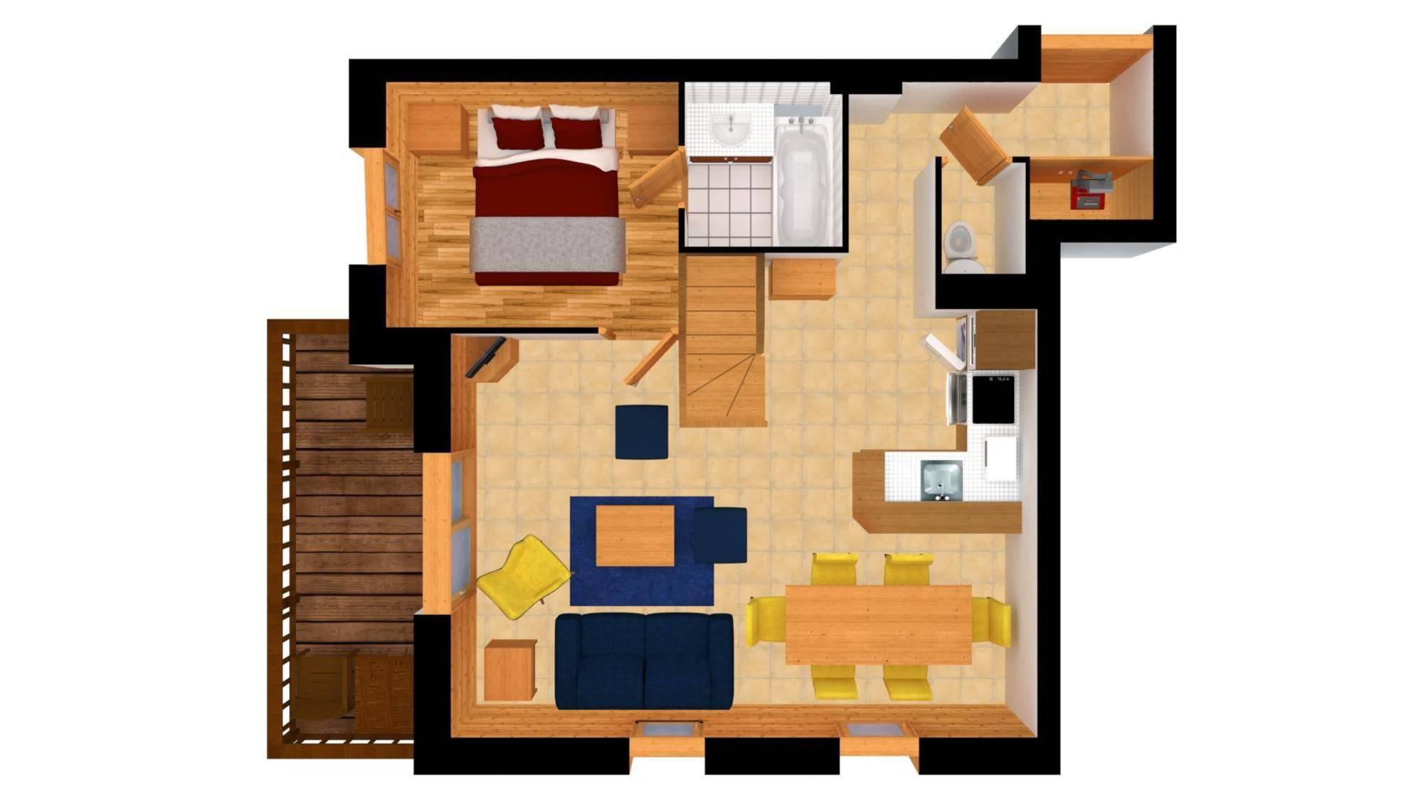 Apartment FERM ESKIMO12 Meribel Floor Plan 1