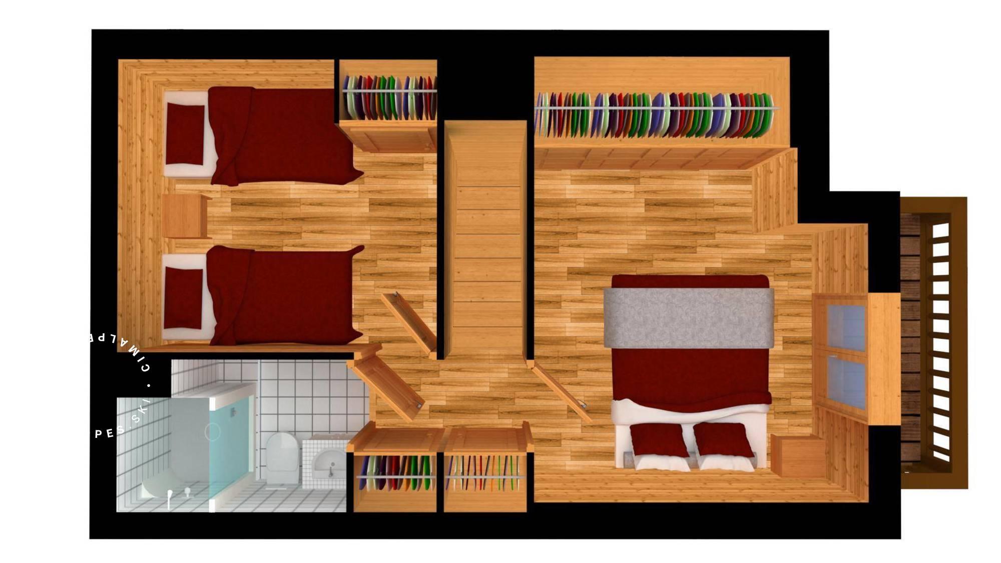 Apartment FERM ESKIMO12 Meribel Floor Plan 2