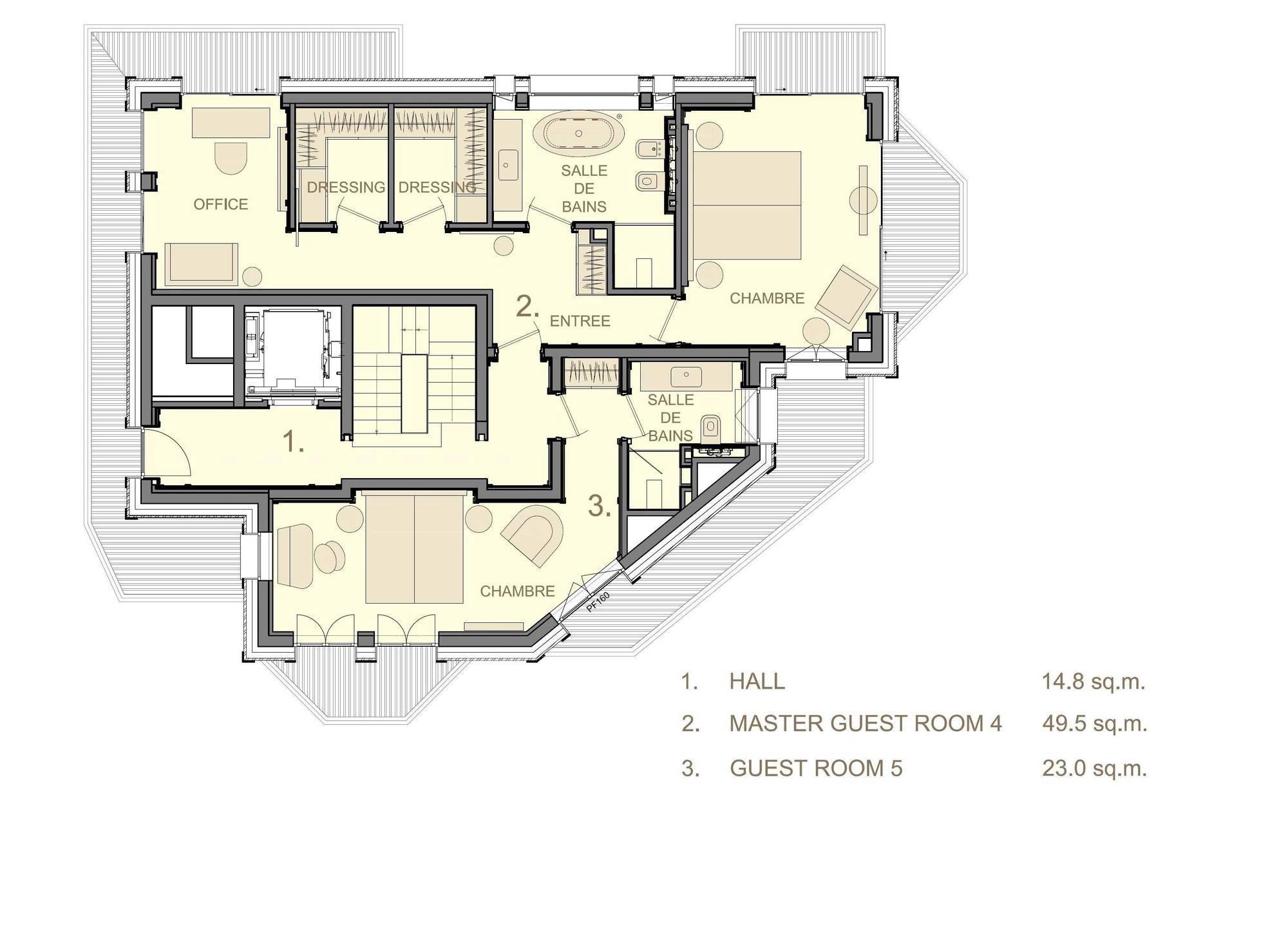 Chalet La Datcha Courchevel Floor Plan 1